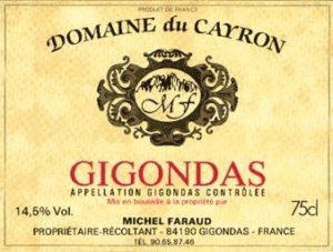 Domaine du Cayron Gigondas